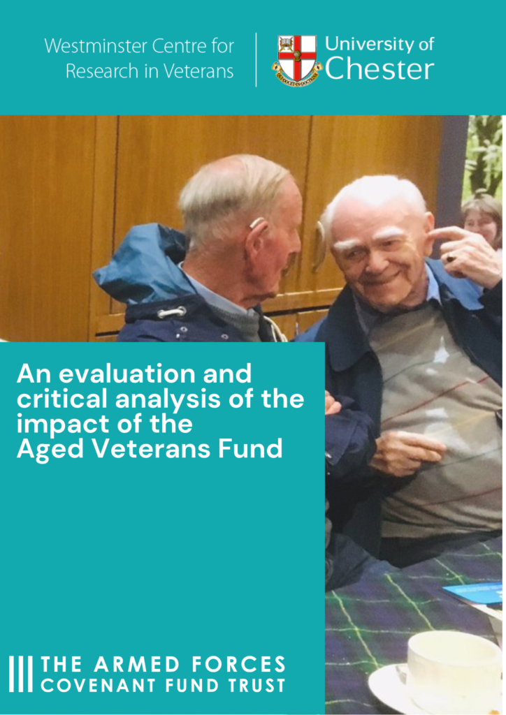 Aged Veterans' Fund evaluation report front cover