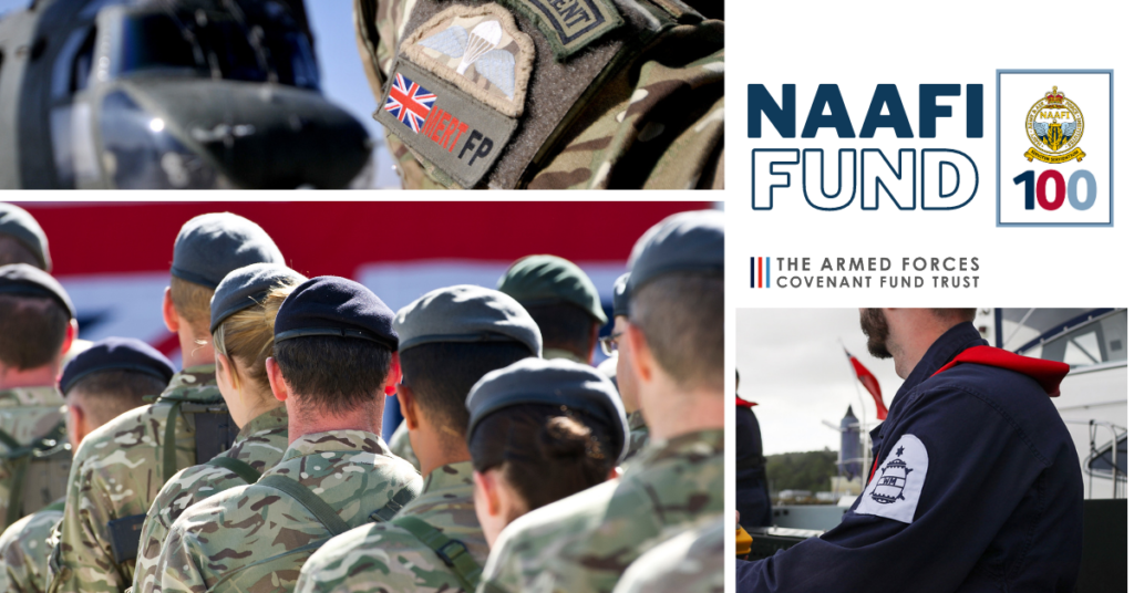 NAAFI Fund: images of Army, Navy and RAF personnel