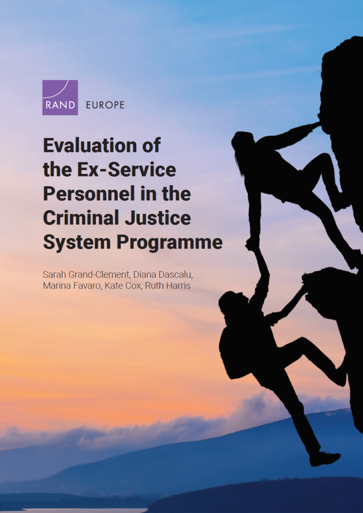 Front cover of the Evaluation of Ex Service personnel in the Criminal Justice System programme