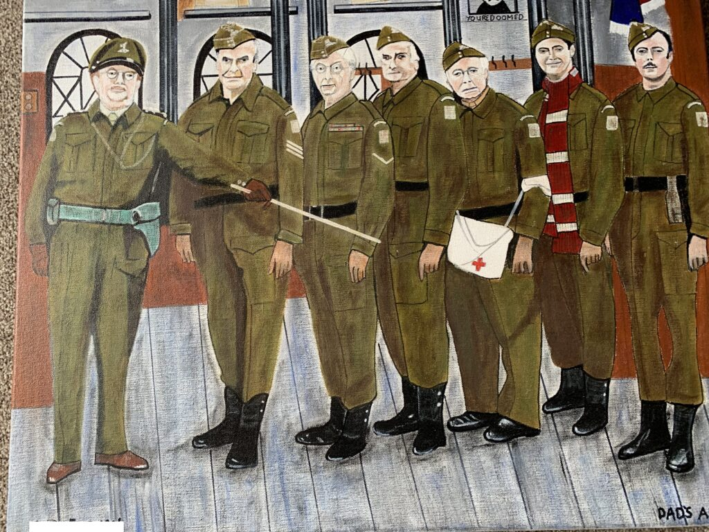 A painting of Dad's Army by a veteran as part of the Art of Isolation Project