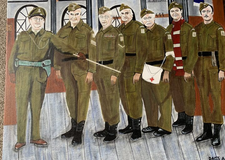 A painting by a veteran of Dad's Army